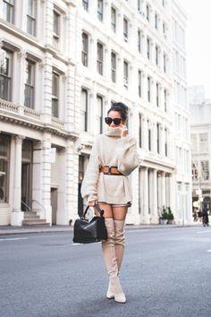 Sweater Dressing :: Cozy turtleneck