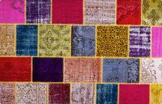 Vintage Patchwork Teppich - mozaiik Unikat Nr. 55TP