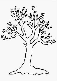 Tree Coloring Page Template Luxury Simple Tree Coloring Sheet Trees Coloring Sheets Fall Coloring Pages, Tree Coloring Page, Pokemon Coloring Pages, Coloring Sheets, Tree Drawing Simple, Simple Tree, Tree Stencil, Stencil Painting, Stenciling