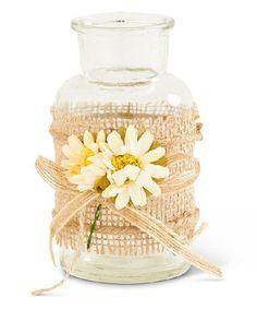 This Flower & Burlap Bottle by K&K Interiors is perfect! #zulilyfinds