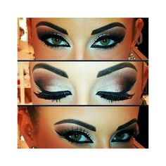10 Best Arabian Eye Makeup Tutorials With Step by Step Tips ❤ liked on Polyvore featuring beauty products, makeup and eye makeup