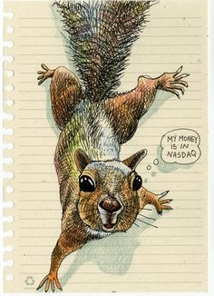 My drawing of a squirrel. I love squirrels. by Tommy Kane.