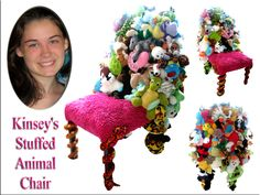 A Custom Stuffed Animal Chair I Created For My Daughter Kinsey. A Keepsake  Of Her
