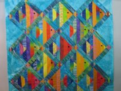 Colorful fish #quilt Make it a school of Montessori Fish individually going their own way!!