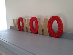large HOHOHO hand crafted wood sign free standing
