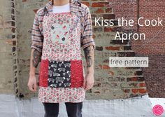 Kiss the Cook Apron *free pattern* by Dear Stella Design | Project | Sewing / Accessories | Kollabora