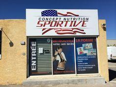 enseigne concept nutrition - signpub Marignane Coaching, Nutrition Sportive, Broadway Shows, Athlete, Training