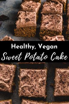 This Sweet Potato Spice Cake is made with lots of cinnamon, mashed sweet potato and topped with a chocolate coconut cream frosting. This recipe is not only healthy and easy, it's vegan and dairy-free too!