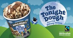 The Tonight Dough starring Jimmy Fallon. The extra-chunky concoction combines chocolate and caramel ice creams with chocolate chip cookie dough, peanut butter cookie dough and a crunchy chocolate cookie swirl. Caramel Ice Cream, Yummy Ice Cream, Ice Cream Flavors, Chocolate Ice Cream, Ice Cream Recipes, Chocolate Liquor, Chocolate Caramels, Ben Und Jerrys, Chocolate Chip Cookie Dough