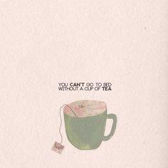 Imagem de tea, cup, and bed