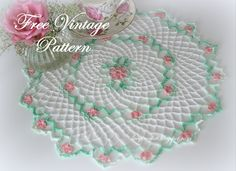 Lacy Crochet: Blossom Doily Vintage Pattern ~ free pattern ᛡ