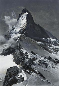 "thunderstruck9: ""Edward Theodore Compton (German, born England, 1849-1921), The Matterhorn. Bodycolour, 34.5 x 24 cm. """
