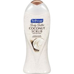 Softsoap Body Wash Coconut Butter Scrub, 15 oz  Love this. And better yet, it's only about $3 at your local Walmart.