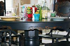 black paint - dining set