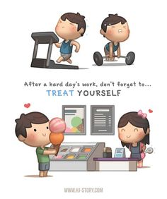 HJ Story -With everyday's stress in our busy lives, don't forget to treat yourself after a long day's work! Or even better, do something to brighten someone else's day! This image wa… Cute Love Gif, Love Is Sweet, What Is Love, Hj Story, Love Cartoon Couple, Cute Love Cartoons, Chibi Couple, Cute Love Stories, Love Story