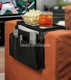 Fashion Couch Chair Sofa Arm Remote Control Cup Holder with Table Top Organizer | eBay