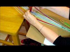 ▶ Weaving on a Sami 2 Hole Rigid Heddle Loom - Beaivi Loom - YouTube