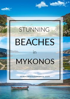 Stunning Beaches in Mykonos. Mykonos has different types of beach to fit your mood. Either you are looking for a party beach, cosmopolitan type, family friendly, secluded beach or picturesque type like what we looked for – Mykonos surely has it! Santorini, Mykonos Grecia, Mykonos Island, Travel Destinations Beach, Places To Travel, Places To Visit, Greece Vacation, Greece Travel, Greece Trip