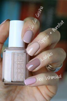 Essie Nail Polish Collection Go Go Geisha Comparison diynagellack Diy Nails, Cute Nails, Pretty Nails, Glitter Nails, Manicure Y Pedicure, Nagel Gel, Nail Polish Collection, Nails Inspiration, Style Inspiration