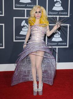 Lady Gaga in Giorgio Armani Prive at the 2010 Grammys - The Most Daring Red Carpet Dresses of the Decade - Photos Armani Prive, Glee, Lady Gaga Dresses, Giorgio Armani, Versace Gown, Lady Gaga Photos, Evening Dresses, Prom Dresses, Big Fashion