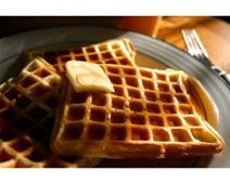 Nothing says home cooking like these square-shaped Belgian waffles.