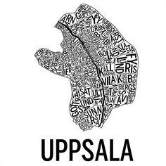 Uppsala i färgen svart