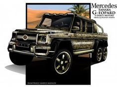 Dartz Mercedes-Benz G63 AMG 6×6 Sahara G-eopard gets gilded makeover