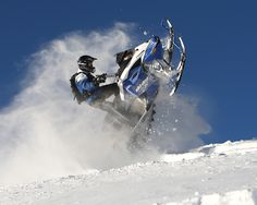 Ride a snowmobile like a big dog! Well, I can't do these stunts, that's my boyfriend's department. Ha