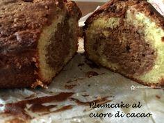 plumcake con cuore di cacao