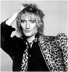 Rod Stewart/ Those Were The DAYS!!  Leopard Print was a MAIN Staple-LOVE IT!!!