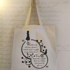 Alice in Wonderland Tote bag. Designed by Chatty Nora. £15.00 via folksy.com