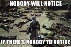 The ultimate gaming stealth technique. - #AssassinsCreed
