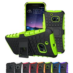 HTC 10 Case, Viodolge [Shockproof] Hybrid Tough Rugged Dual Layer Protective Case Cover with Kickstand for HTC 10 (2016) (green) *** This is an Amazon Affiliate link. You can find more details by visiting the image link.