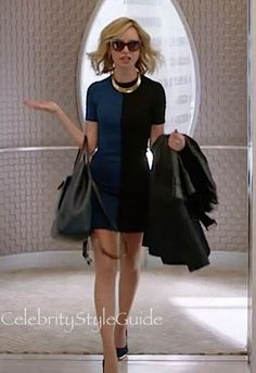Cat Grant's All Business In This Blue and Black Colorblock Dress In Supergirl😂😂 Supergirl Cat Grant, Supergirl Comic, Supergirl Superman, Supergirl And Flash, Ally Mcbeal, Calista Flockhart Supergirl, Supergirl Outfit, Dc Comics, Melissa Benoist