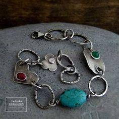 Sterling silver bracelet chain bracelet by DominikaDobraszczyk