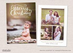 Christmas Card Template CC098 by OtoStudio on Creative Market (scheduled via http://www.tailwindapp.com?utm_source=pinterest&utm_medium=twpin&utm_content=post17618618&utm_campaign=scheduler_attribution)