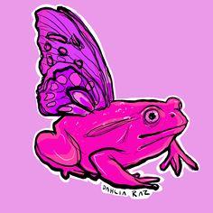 #frog #frogsofinstagram #frogcore #butterfly #butterfly
