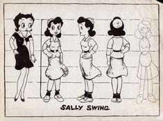 Sally Swing model sheet