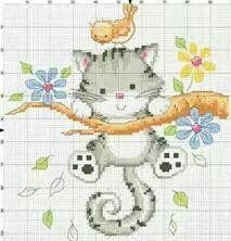 Thrilling Designing Your Own Cross Stitch Embroidery Patterns Ideas. Exhilarating Designing Your Own Cross Stitch Embroidery Patterns Ideas. Cross Stitch For Kids, Cross Stitch Cards, Cross Stitch Baby, Cross Stitch Animals, Cat Cross Stitches, Cross Stitching, Cross Stitch Embroidery, Embroidery Patterns, Cross Stitch Designs