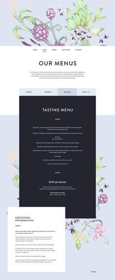 Unique Web Design, Quay Restaurant via @bronwynangela #Web #Design