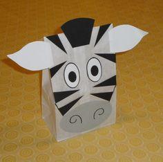 Zebra Treat Sacks - Jungle Zoo Safari Theme Birthday Party Favor Bags by jettabees on Etsy. $15.00, via Etsy.