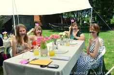 Normal Activities: bridal shower games  Staches and Tiaras