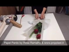 Wrapping two roses - YouTube