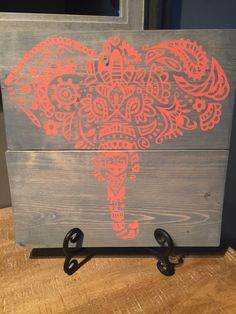Ornate Wooden Elephant Sign by ColaneriCo on Etsy https://www.etsy.com/listing/498532451/ornate-wooden-elephant-sign