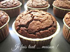 Muffin au chocolat ultra moelleux Chocolat Cake, Toddler Muffins, Chocolate Muffins, Healthy Muffins, Cupcake Cookies, Cupcakes, Homemade Chocolate, Healthy Baking, Melting Chocolate