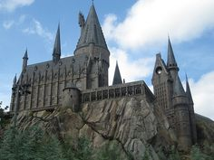 Hogwarts in Universal. The interactive ride on broomsticks with Harry actually made me cry a little!