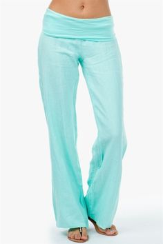 Fold Over Linen Pant