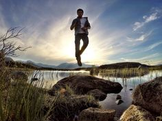 Lucky shot, indeed. Scotty. Martin Steinbach levitates over some Scottish marshes while capturing the shot with GoPro App.  Learn more about the GoPro App: http://gopro.com/software-app/gopro-app