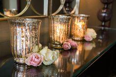 Roses + mercury glass ~ Photographer: Pear Studios Inc. // Event Planner: Karina Lemke Weddings