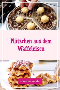 Waffelkekse – diese Erfolg im Waffeleisen! You are in the right place about christmas kids Here we offer you the most beautiful pictures about the christmas treats you are … Biscuits Keto, Cookies Et Biscuits, Cake Cookies, Delicious Cookie Recipes, Baking Recipes, Cake Recipes, Yummy Food, Savoury Baking, German Recipes